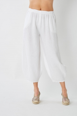 Linen 3/4 Length Pants