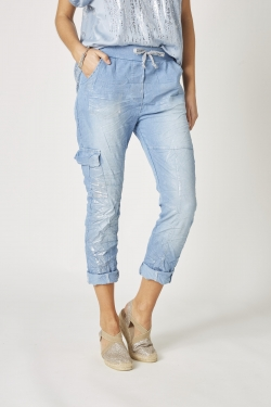 Silver Shimmer Jeans