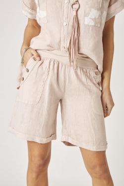 Linen Button Short