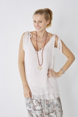 Two Layer Silk Top