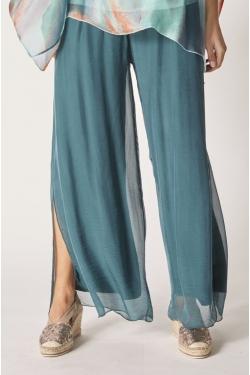 Silk Split Pants