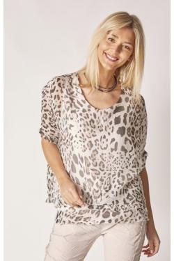 Short Sleeve AP Silk Blouse