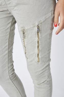 Plain Zipper Jegging
