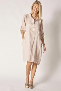 Linen Dress w/ Side Detail