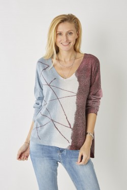 Abstract Two Toned Sweater